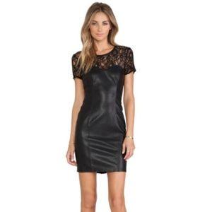 Bardot Femme Corset Dress Vegan Leather & Lace